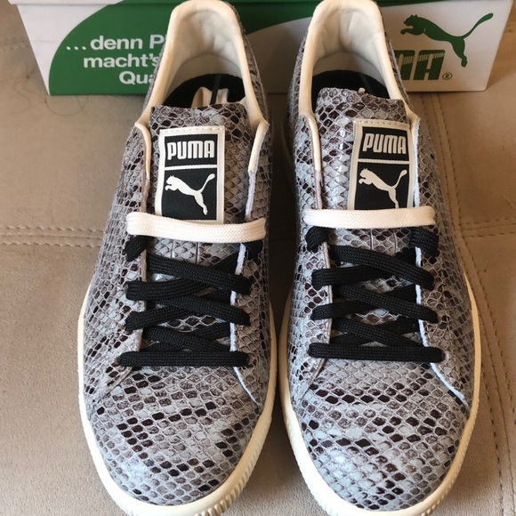 72bc6a33aeaf Puma Clyde Snake Sneakers